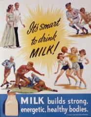 2.25Transparency: Advertisement.. It's Sweet to Drink Milk. Hood Coll.