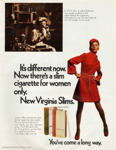 smoking Virginia Slims 68